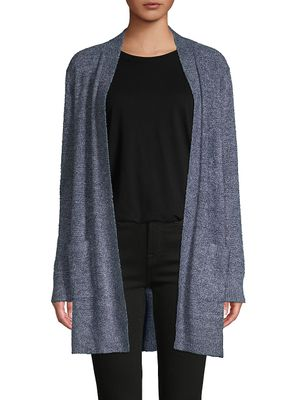 Matty M Textured Open-Front Cardigan