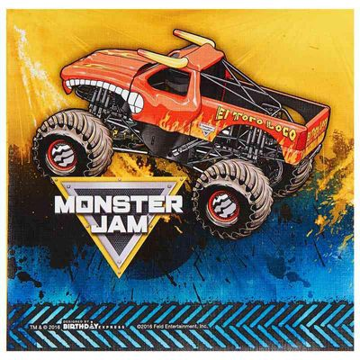 Monster Jam Lunch Napkins (20 Count)