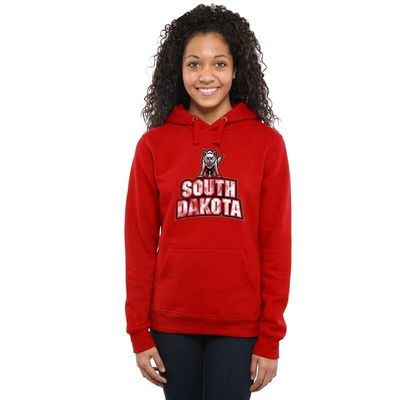 South Dakota Coyotes Women's Classic Primary Pullover Hoodie - Scarlet