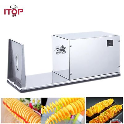 ITOP Electric French Fry Cutters Tornado Potato Spiral Cutter Slicer Stainless Steel Potato Fries Machine With 6cm Blade