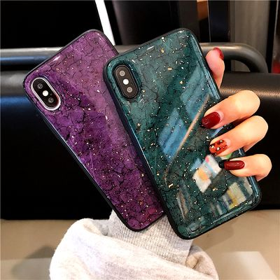 Gold Sequins Marble Soft Case For Samsung Galaxy A50 A10S A20 A30 A40S A60 A70 A80 M10 M20 M30 A8 Plus A6 Plus A7 2018 A9S Cover
