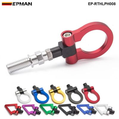 EPMAN Jdm Model Car Auto Trailer Hook Ring Eye Tow Towing Front Rear Aluminum For Japanese Car EP-RTHLPH008