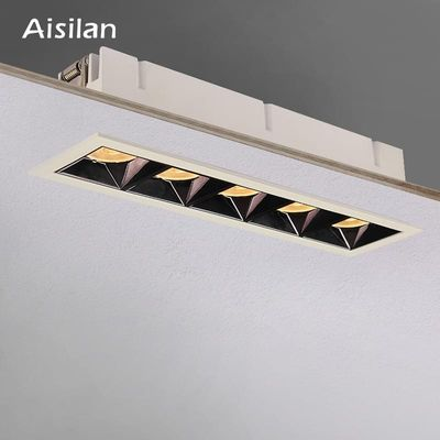 Aisilan led grid ceiling spot light embedded downlight line lights COB rectangular ceiling lamp without main lights CREE