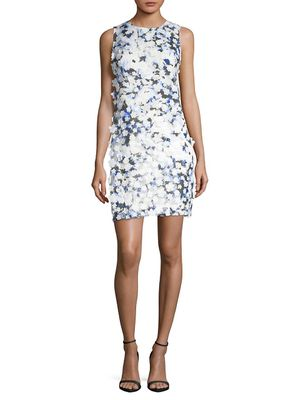 Karl Lagerfeld Paris Applique Printed Lace Dress
