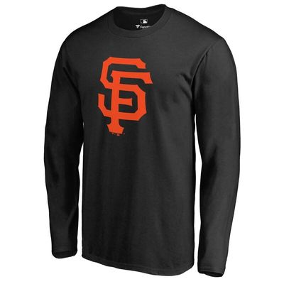 San Francisco Giants Team Color Primary Logo Long Sleeve T-Shirt - Black