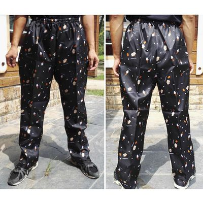 Chef Trousers Food Service Checked Food Printed Pants Elastic Peppers Restaurant Kitchen Pants Bakery  Work Wear Uniform Cook