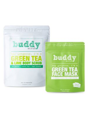 Buddy Scrub Green Tea Ultimate Self-Care Pack - Face Mask & Body Scrub Two-Piece Set