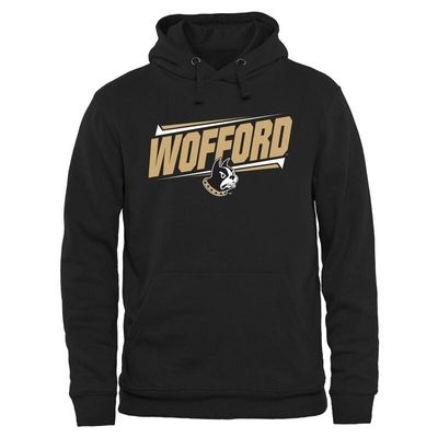 Wofford Terriers Double Bar Pullover Hoodie - Black
