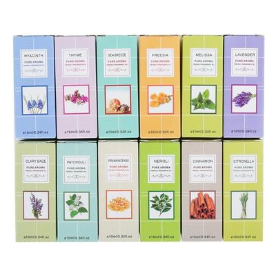 10ML 12 Flavor Pure Essential Oils For Aromatherapy Diffuser Aroma Oil Mint Tea Tree Lavender Patchouli Oil Relieve Stress TSLM1