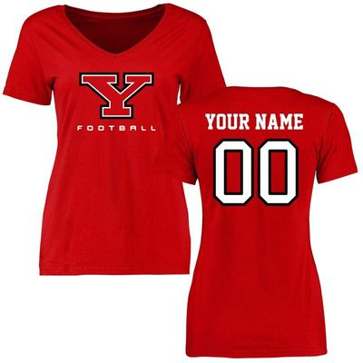 Youngstown State Penguins Women's Personalized Football T-Shirt - Red