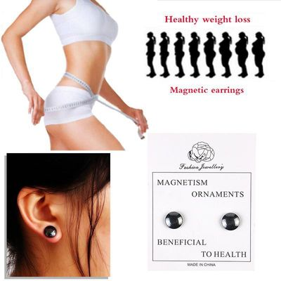 Magnetic Slimming Earrings Slimming Patch Lose Weight Magnetic Health Jewelry Magnets of Lazy Paste Slim Patch Detox Cellulite