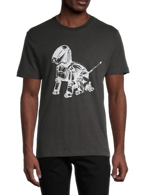 French Connection Robot Dog Graphic Cotton Tee