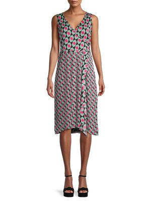 Diane von Furstenberg Tenley Printed Wrap-Effect Dress