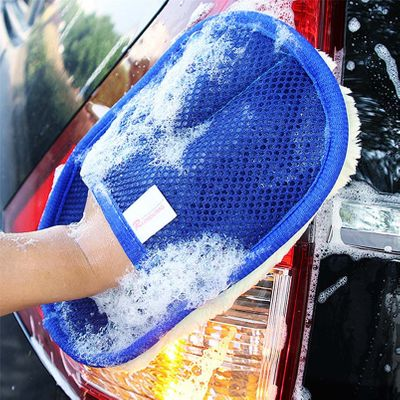 CARPRIE New Arriving 1Pc Car Wash Clean Sponge Brush Glass Cleaner Blue Wave Car Wash Triangle #0803