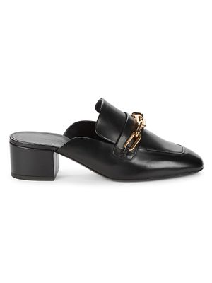 Burberry Chill Leather Heeled Mules