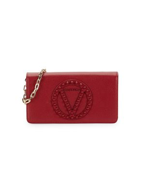 Valentino by Mario Valentino Serena Studded Leather Wallet-On-Chain