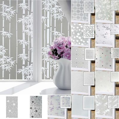 Frosted Film On Glass Self-Adhesive Waterproof Window Privacy PVC Film Sticker Glass Film Paper For Bathroom Living Room Decor