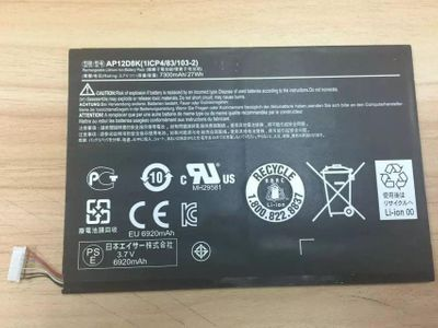 News Battery for Acer Iconia W511P Series AP12D8K 1ICP4/83/103-2 3.7V 27WH A3-A10 A11 W510 W510P W511