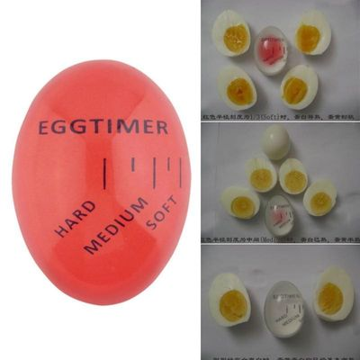 1PC Egg Perfect Color Changing Timer Yummy Soft Hard Boiled Eggs Cooking Kitchen Silicone Egg Timer Red timer Beep Eggs OK 0246