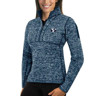 BYU Cougars Antigua Women's Fortune 1/2-Zip Pullover Sweater - Navy