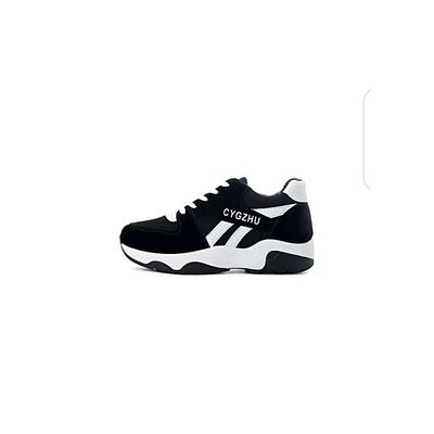Women Fashion Sneakers- Black And White