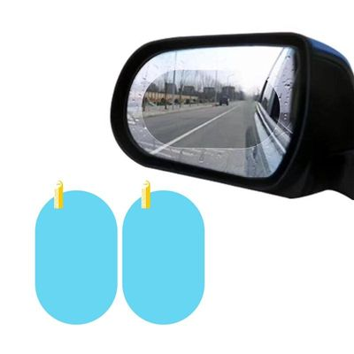 Unversal 2PCS Car Rearview View Mirror Window Clear Protective Film Sticker Anti-Fog Waterproof Rainproof Car Accessories