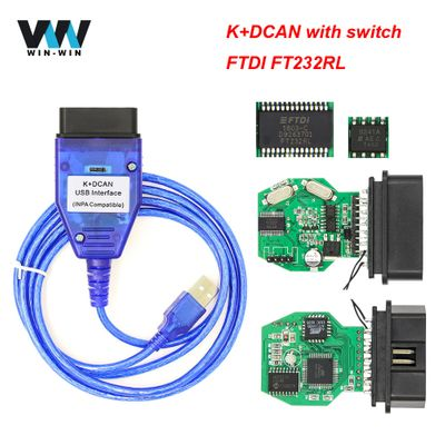 INPA K DCAN With FTDI FT232RL For BMW OBD2 Scanner For BMW INPA K + DCAN OBD 2 OBD2 Car Diagnostic Auto Tool K line K-line Cable