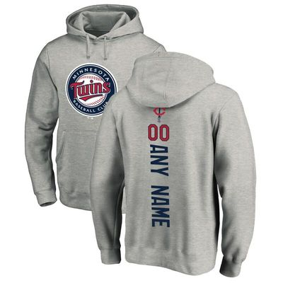 Minnesota Twins Fanatics Branded Personalized Playmaker Pullover Hoodie - Ash