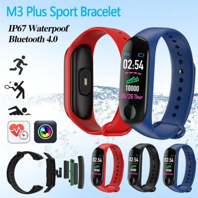 M3 Plus Running Pedometer Blood Pressure Monitor Heart Rate Monitor Fitness Smart Bracelet Walking Step Count For IOS Android