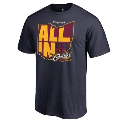 Cleveland Cavaliers 2016 NBA Finals Bound All In T-Shirt - Navy