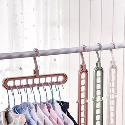 Multi-port Support Circle Clothes Hanger Clothes Drying Rack Multifunction Plastic Scarf Clothes Hangers Hangers Storage Racks
