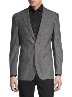 Calvin Klein Slim-Fit Textured Blazer Suit