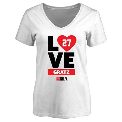 Dwayne Gratz Fanatics Branded Women's I Heart V-Neck T-Shirt - White