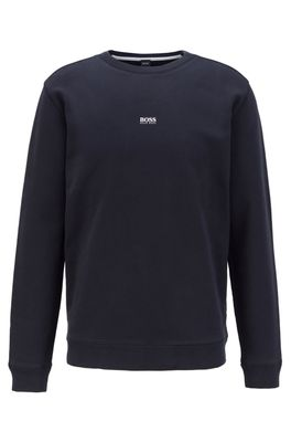 HUGO BOSS - Relaxed Fit Sweatshirt In Cotton Blend Terry