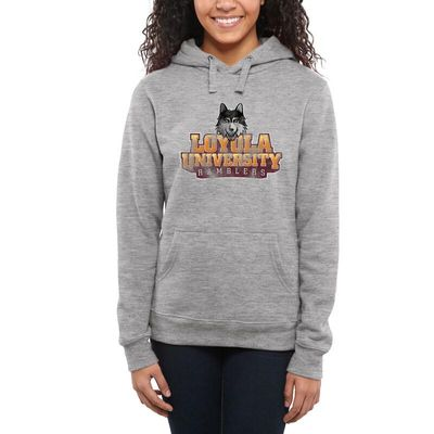 Loyola Chicago Ramblers Women's Classic Primary Pullover Hoodie - Ash -