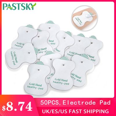 50pcs/lot Self Adhesive Replacement Electrode Pad For Tens Acupuncture Digital Therapy Machine Long Life Service Slim