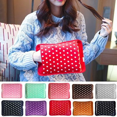 New Multicolor Polka Dot Electric Hot-water Bag EU Plug Winter Hand Warmer Hot Water Bottle Hand Po Inserted Charging