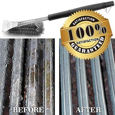 Barbecue Grill BBQ Brush Clean Tool Stainless Steel Wire Bristles Diameter Stainless Steel Round Wire Tube Pipe Cleaning Brush
