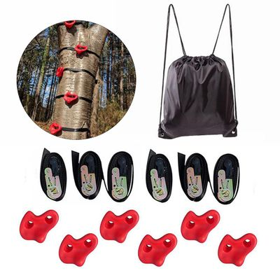 12Pcs/Set Plastic Tree Climbing Rock Wall Stones Assorted Color For Kids Rock Climbing Wall Stones Hand Feet Holds Grip Kits 4