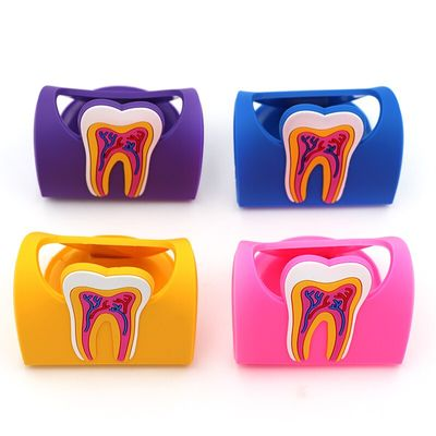 1pc Dental Clinic Tooth Card Display Stand Dental Card Holder Colorful Rubber Teeth Molar Shape Phone Card Name Storage