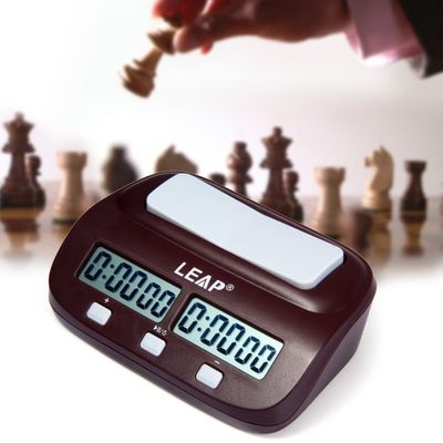 LEAP Professional Chess Clock Compact Digital Watch Count Up Down Timer Electronic Board Game Bonus Competition for Drop Ship!