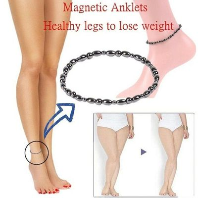 Stimulating Acupoints Therapy Fat Burning Health Care Magnetic Slimming Anklet Bracelet Black Gallstone Weight Loss