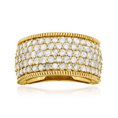 Ross-Simons Diamond Ring in 18kt Gold Over Sterling
