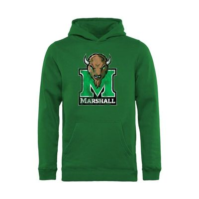 Marshall Thundering Herd Youth Classic Primary Pullover Hoodie - Kelly Green