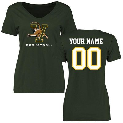 Vermont Catamounts Women's Personalized Basketball T-Shirt - Green