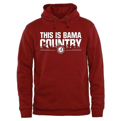 Alabama Crimson Tide Our House Pullover Hoodie - Crimson