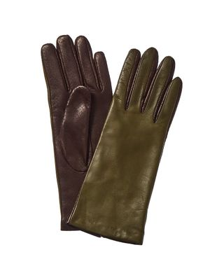 Portolano Two-Tone Leather Gloves