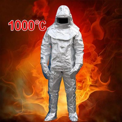 High Heat Resistant and Anti-radiation heat Aluminized Suit Fireproof Clothes 1000℃