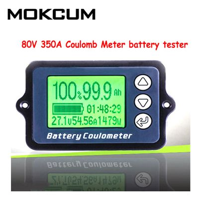 TK15 80V 350A 100A Coulomb Meter battery tester Battery Capacity tester Coulometer Power Level Display Lithium Battery Indicator