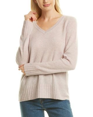 Qi Cashmere V-Neck Cashmere Sweater